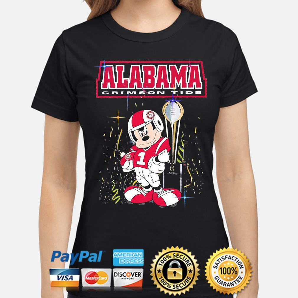Mickey Mouse Alabama Crimson Tide shirt