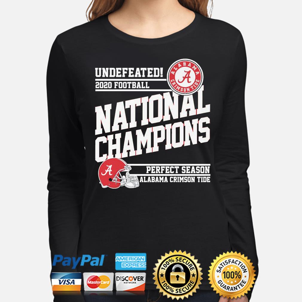 Undefeated 2020 Football National Champions Alabama Crimson Tide s long-sleeve