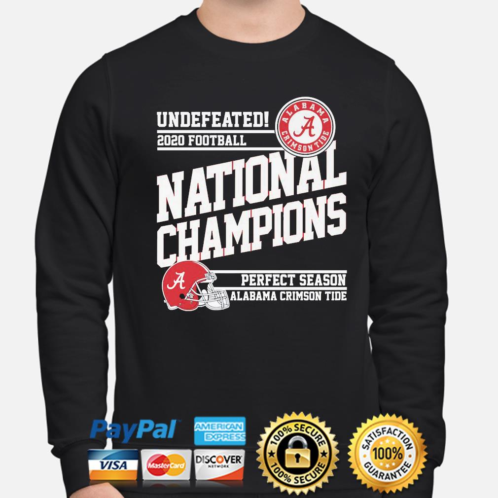 Undefeated 2020 Football National Champions Alabama Crimson Tide s sweater