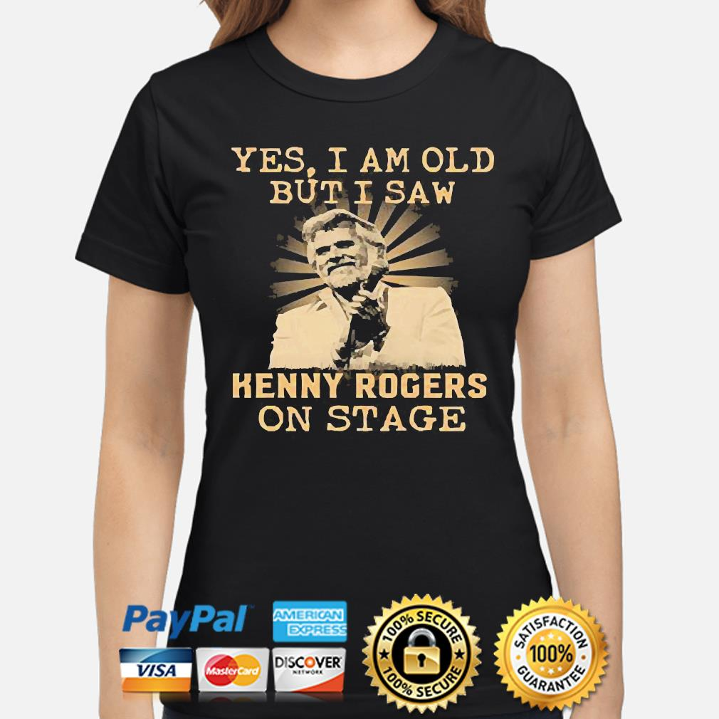 Yes I am old but I saw Kenny Rogers on stage shirt